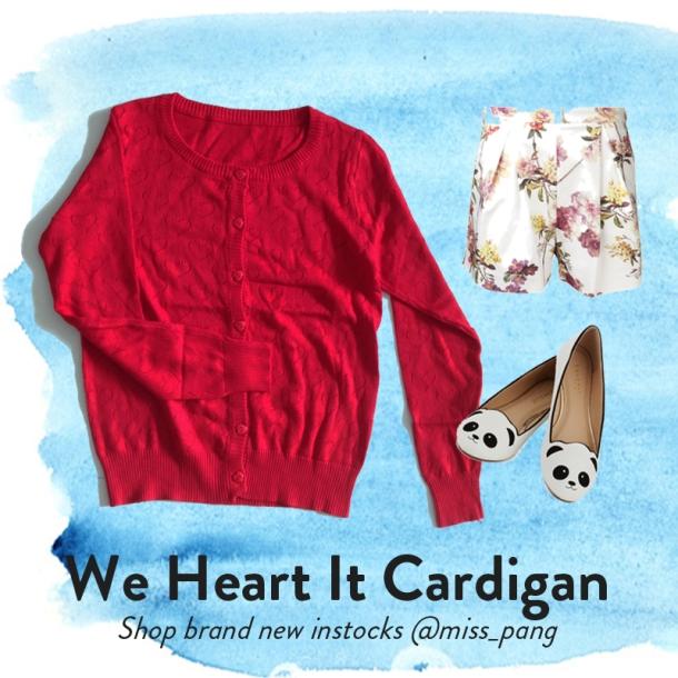b We Heart It Cardigan